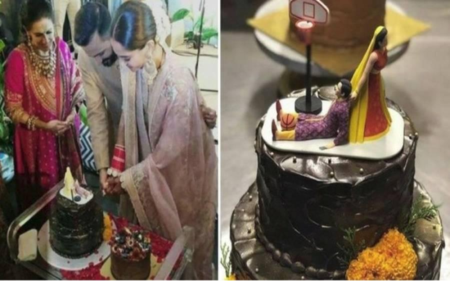 آنند آہوجا نے سونم کپور سے شادی کے بعد خصوصی کیک کاٹ دیا،تصویر دیکھ کر آپ کی بھی ہنسی چھوٹ جائے گی