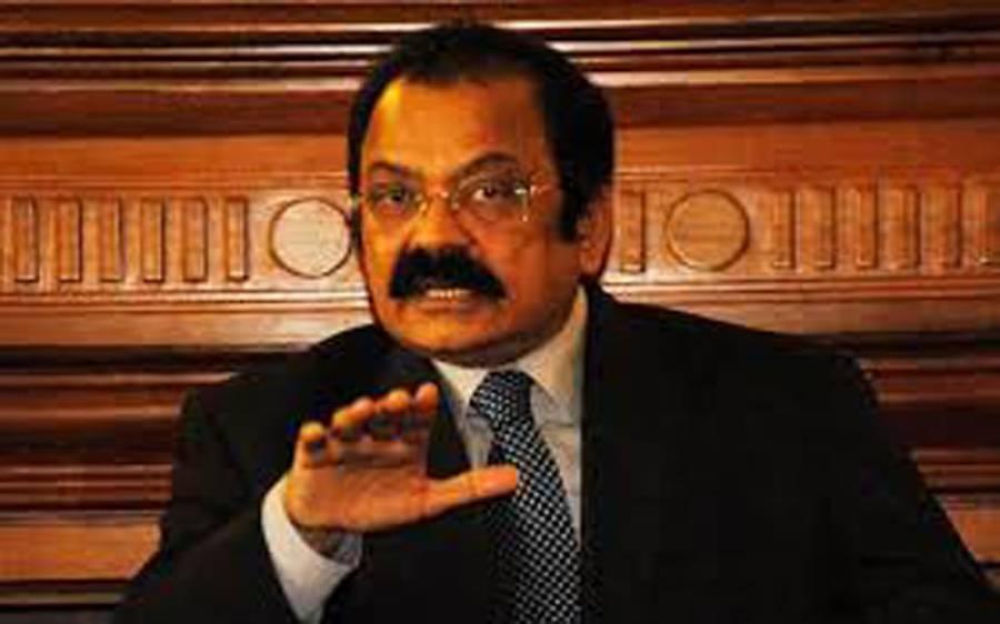 تحریک انصاف ناصر درانی کو منالے ، ہم تیار ہیں :ر انا ثناءاللہ