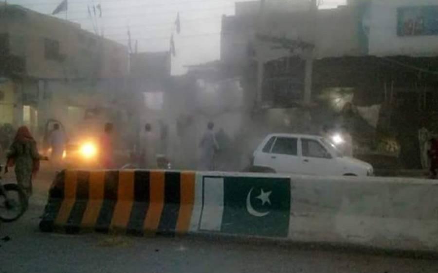 ڈیرہ مراد جمالی میں پولیس موبائل کے قریب دھماکا،4 اہلکاروں سمیت6 افراد زخمی