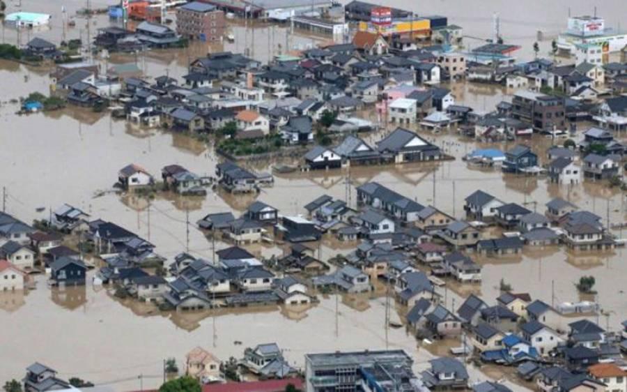 جاپان میں طوفانی بارشوں نے تباہی مچادی، ہلاکتوں کی تعداد 209ہوگئی