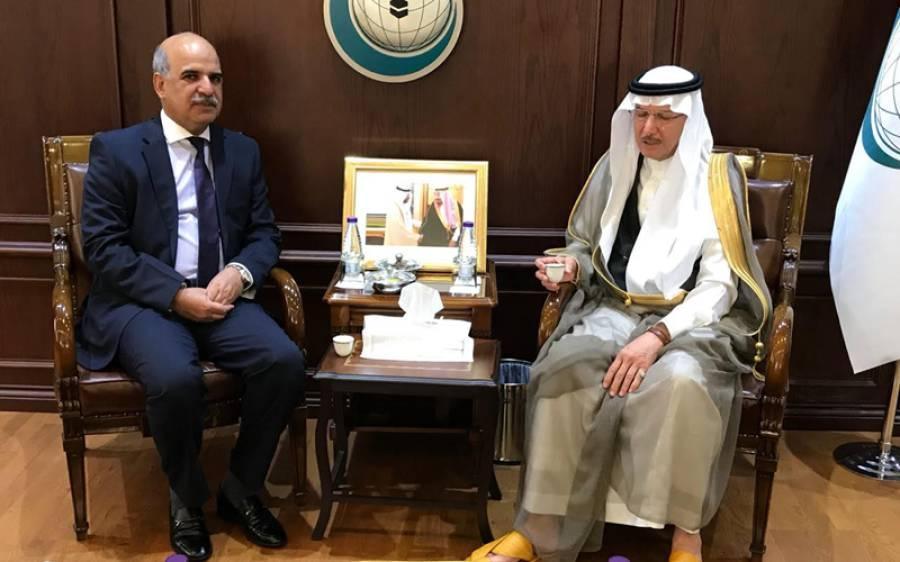 سعودی عرب میں پاکستان کے سفیر کی او آئی سی کے سیکرٹری جنرل اور اسلامی ترقیاتی بینک کے صدر سے ملاقات