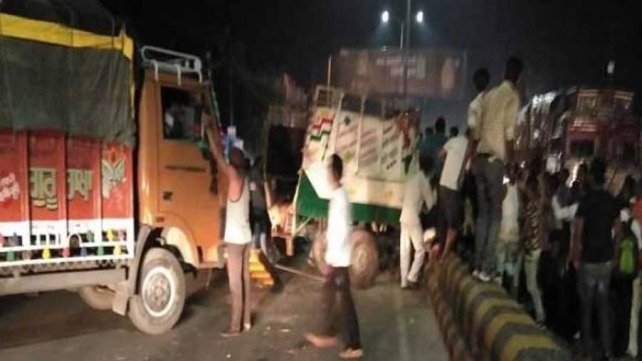 بھارت:ٹرک ڈرائیور نے 15 لوگوں کو کچل دیا، 5 ہلاک