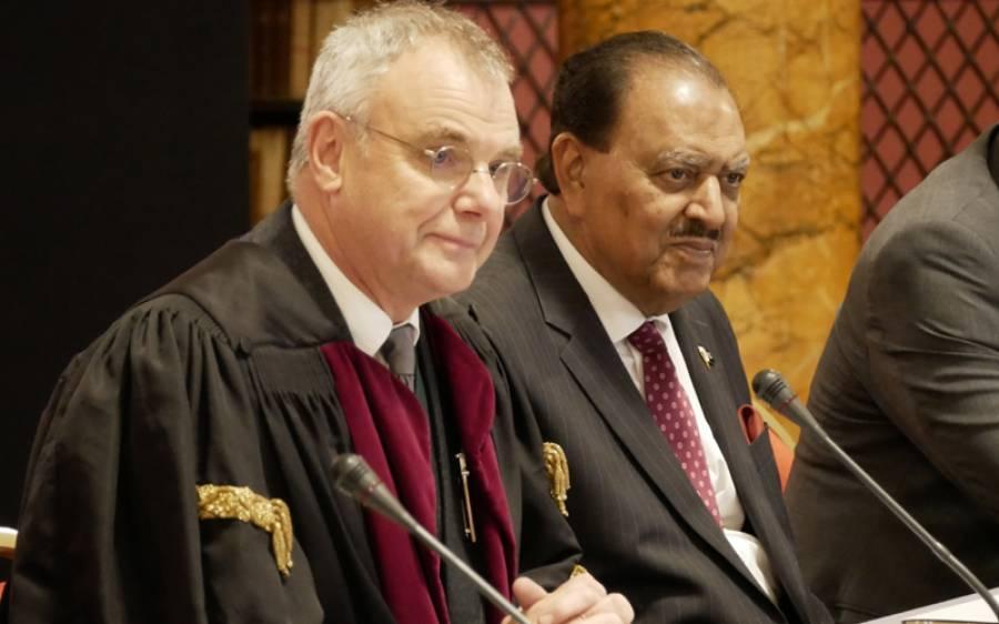 صدر پاکستان ممنون حسین کو رائل کالج برطانیہ کے دورہ کے دوران اعزازی فیلو شپ سے نوازا گیا