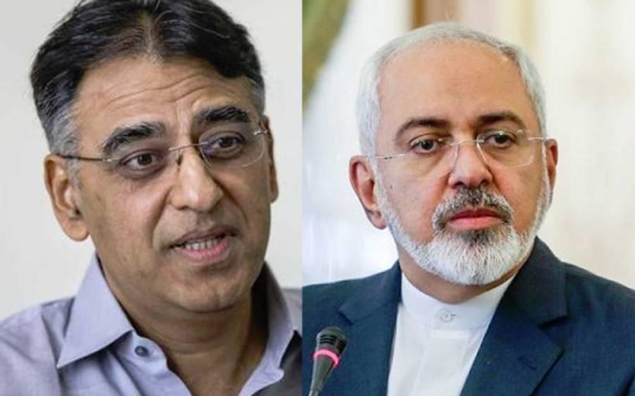 ایرانی وزیر خارجہ جواد ظریف کی وزیر خزانہ اسد عمر سے ملاقات،باہمی امور پر بات چیت