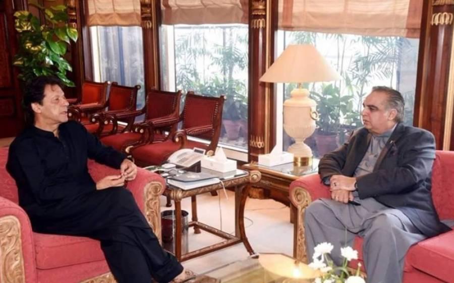 وزیر اعظم سے گورنر سندھ عمران اسماعیل کی ملاقات ،صوبائی حکومت کو عوا می مسائل کے حل کے لئے ہر ممکنہ تعاون فراہم کریں گے :عمران خان
