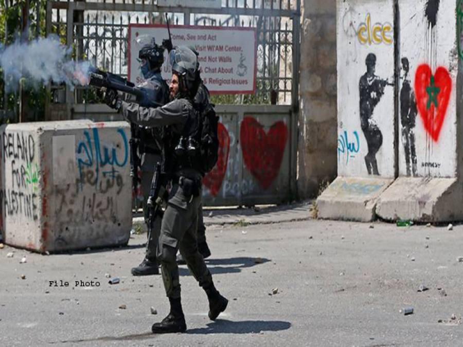 اسرائیلی فوج کی فلسطینی مظاہرین کی ریلی پر فائرنگ شیلنگ ، متعدد زخمی