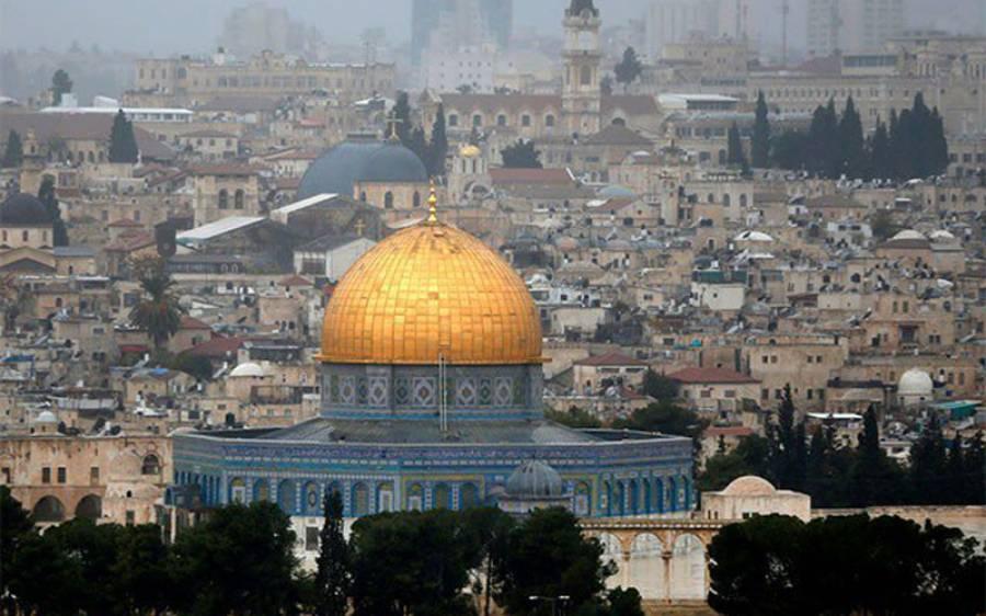 مقبوضہ بیت المقدس میں یہودیوں کا قبلہ اول پر دھاوا، بے حرمتی
