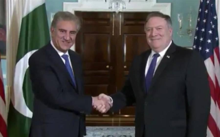 وزیر خارجہ شاہ محمود قریشی کی امریکی ہم منصب سے ملاقات، دوطرفہ تعلقات پر تبادلہ خیال
