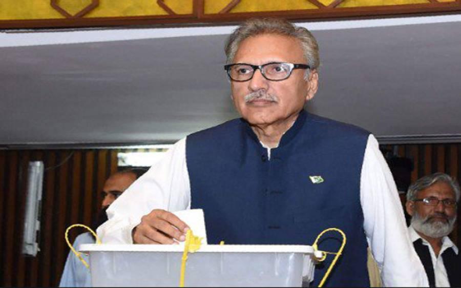 ضمنی انتخابات ؛صدر ڈاکٹر عارف علوی نے این اے 247 میں اپناووٹ کاسٹ کیا