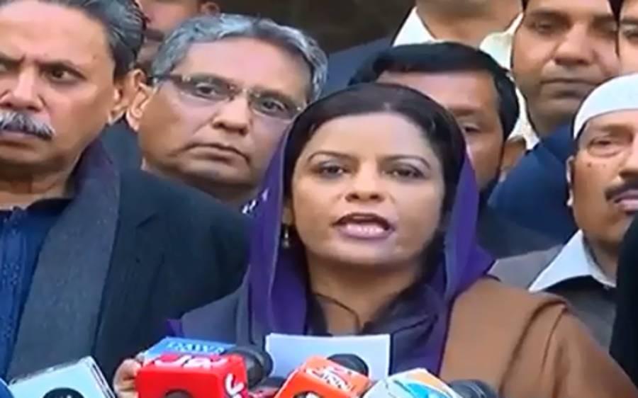 پارلیمنٹ پر چڑھائی نہیں کریں گے ،وزیراعظم ،علیمہ خان ، جہانگیر ترین اورعلیم خان کے خلاف عدالت سمیت ہر فورم پر جائیں گے:ڈاکٹر نفیسہ شاہ