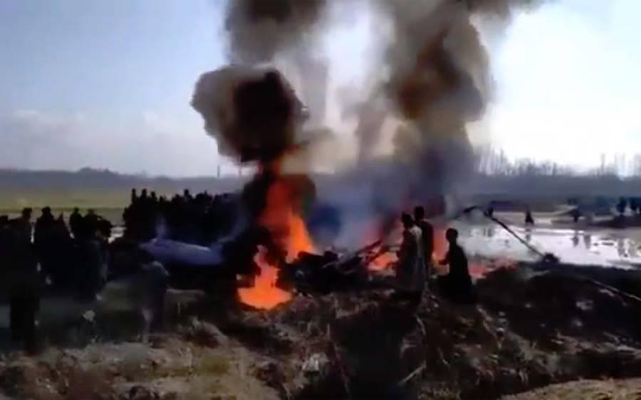 پاکستان کی حدود میں گرنے والے بھارتی طیارے کا ایک پائلٹ گرفتار، دوسرا کہاں گیا؟ نجی ٹی وی چینل نے دعویٰ کردیا