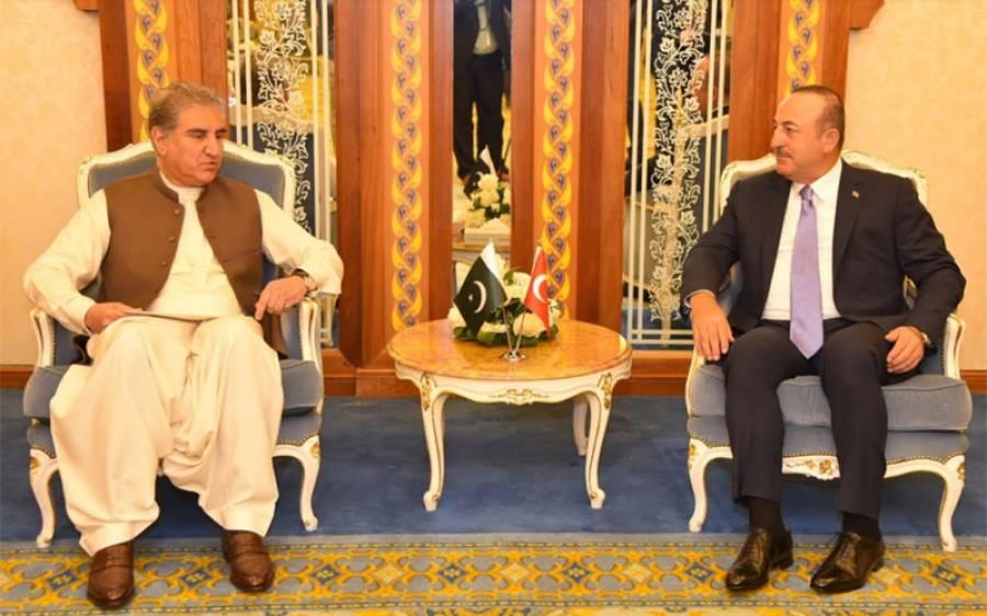 شاہ محمود قریشی کی ترکی کے وزیر خارجہ میولودچاوش اولو سے ملاقات