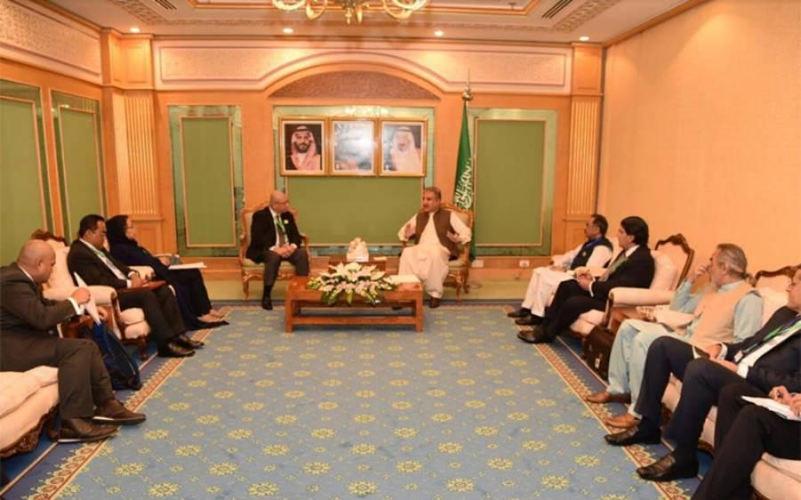 او آئی سی وزرائے خارجہ کونسل کے اجلاس میں شاہ محمود قریشی کی ملائیشیا کے وزیر خارجہ سیف الدین عبداللہ سے ملاقات