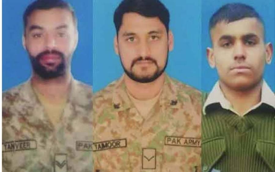 لائن آف کنٹرول پر بھارت کی بلااشتعال فائرنگ سے 3جوان شہید،پاک فوج کی جوابی کارروائی میں5 بھارتی فوجی واصل جہنم