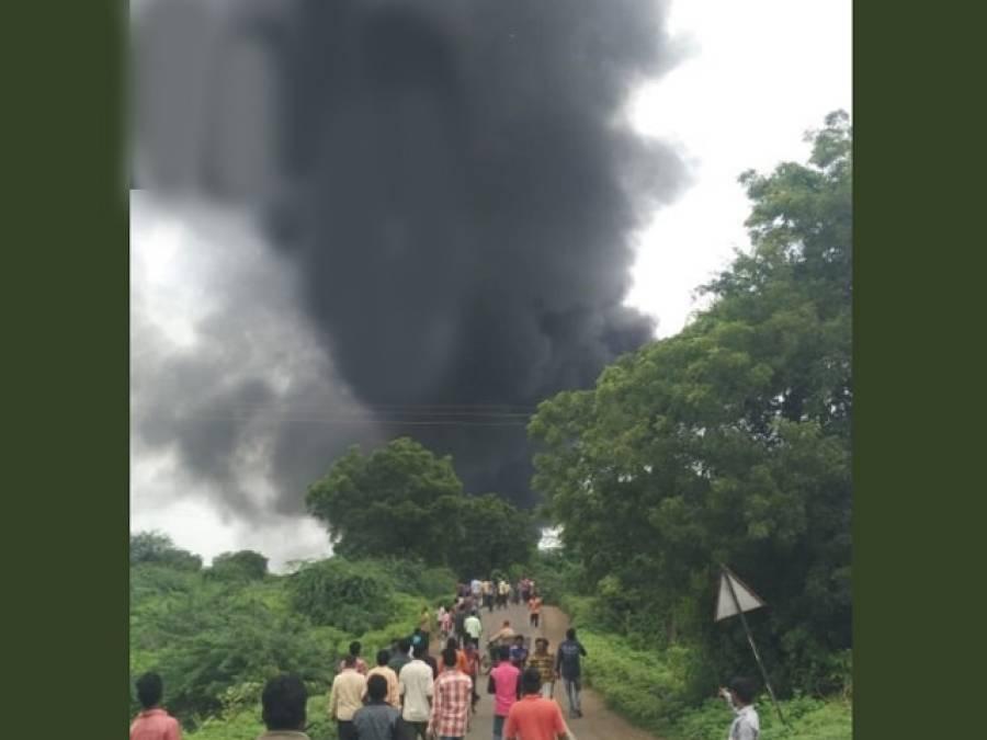 بھارت میں بڑی تباہی، کیمیکل فیکٹری میں سیلنڈر پھٹنے سے 12 افراد ہلاک، 58 زخمی