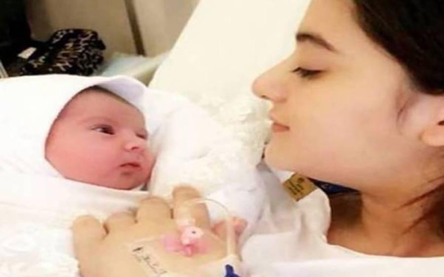 اداکارہ ایمن خان کے گھر بیٹی کی پیدائش، تصویر سامنے آ گئی