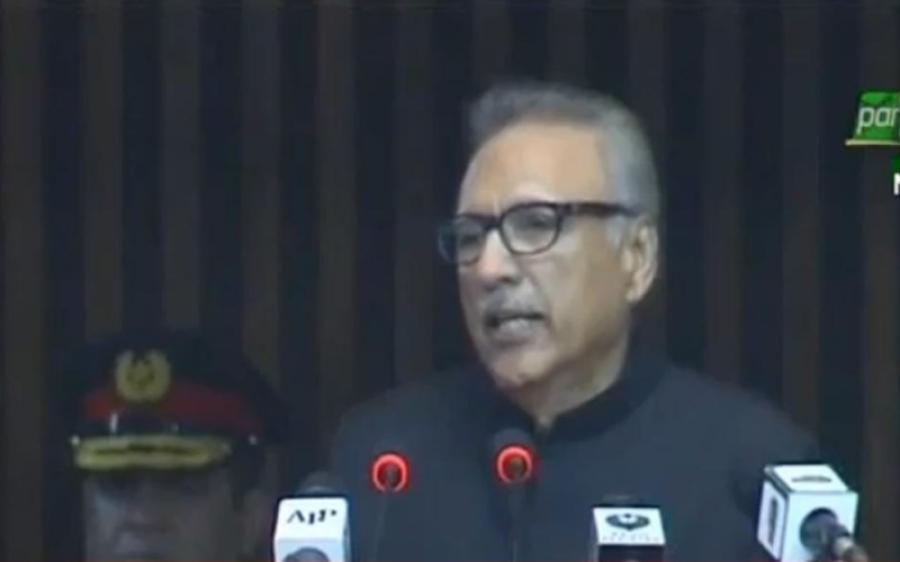 بھارتی حکمران حالات وہاں نہ لے جائیں جہاں سے واپسی ممکن نہ ہو، آج دو قومی نظریے کی اہمیت مزید اجاگر ہوئی: صدر مملکت کا پارلیمان کے مشترکہ اجلاس سے خطاب
