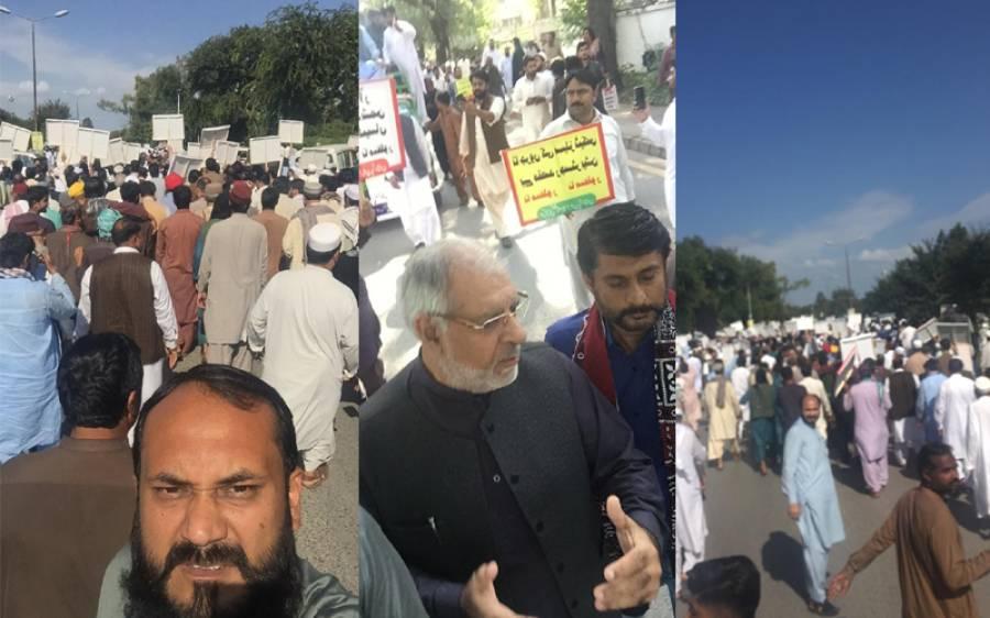اسلام آباد میں دھرنا شروع ہوگیا، حکومت مزید مشکل میں پھنس گئی