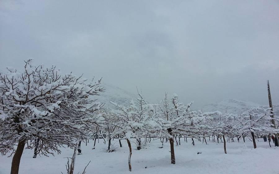 بلوچستان اورآزاد کشمیر میں برفباری کا نیا سلسلہ شروع