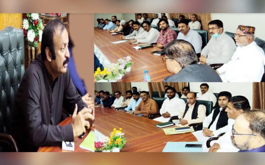 عمرکوٹ میں کرونا وائرس کی صورتحال سے نمٹنے کے لیے ڈپٹی کمشنر ندیم الرحمان میمن کی زیر صدارت اجلاس