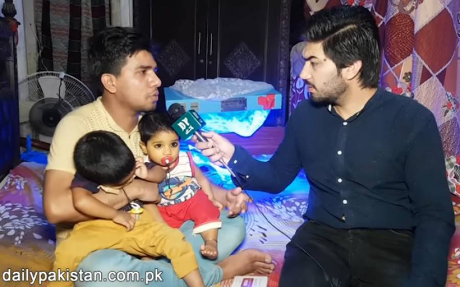 وہ باپ جو اپنا جگر اپنے بیمار بچوں کو دینا چاہتا ہے لیکن لاک ڈاؤن اس کے بھی راستے میں آگیا