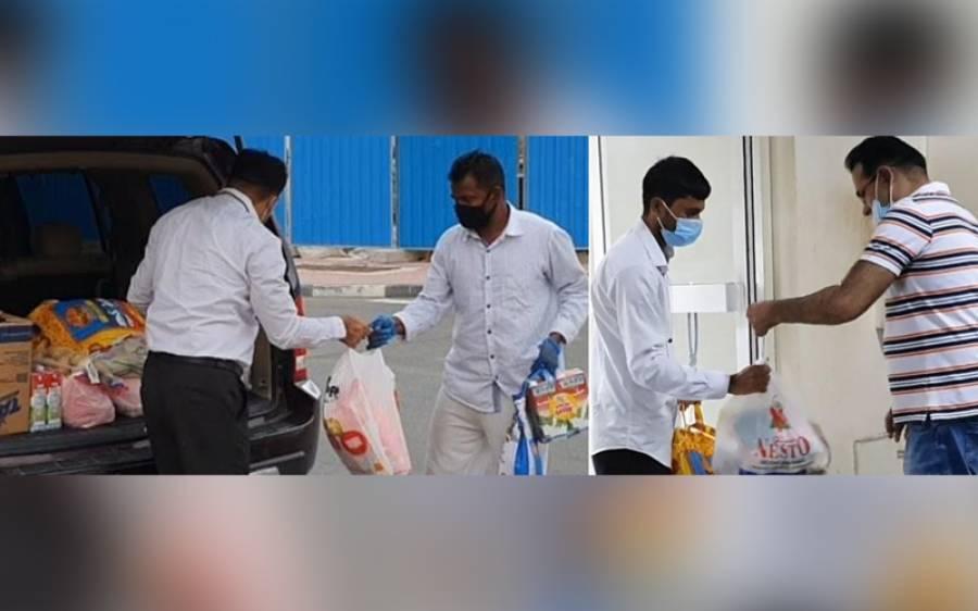 دبئی : پی ٹی آئی کی طرف سے 2500 لوگوں میں راشن کی تقسیم