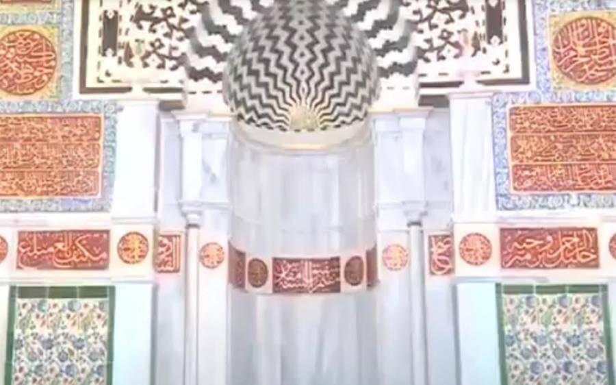 مسجد نبویؐ میں محراب اور دیوار کی ترمیم و اصلاح کا کام مکمل کر لیا گیا