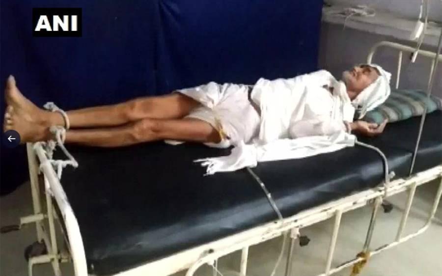 بل ادا نہ کرنے پر ہسپتال انتظامیہ نے بزرگ شہری کو بیڈ پر ہی باندھ دیا، تصاویر وائرل