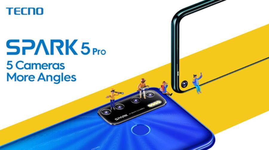 ٹیکنو موبائل کی جانب سے 5کیمروں والا Spark 5Pro پاکستان میں متعارف