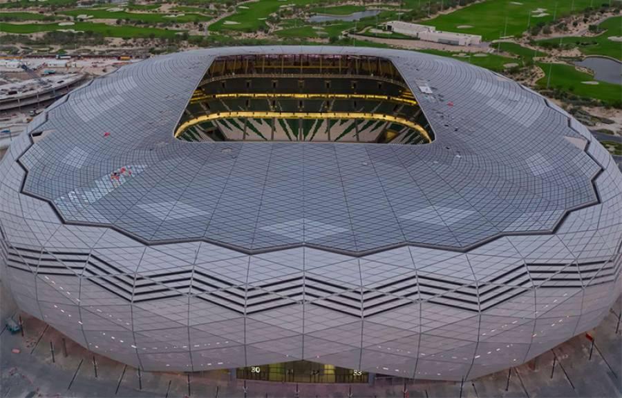 فٹ بال ورلڈکپ 2022ءکی تیاریاں، دنیا کا پہلا 5 سٹار سٹیڈیم قطر میں تیار ہو گیا، ویڈیو دیکھ کر ہر کسی کی آنکھیں کھلی کی کھلی رہ جائیں