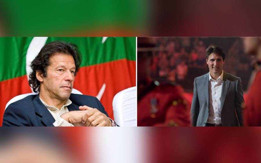 وزیراعظم عمران خان کو کینیڈین ہم منصب کا ٹیلی فون