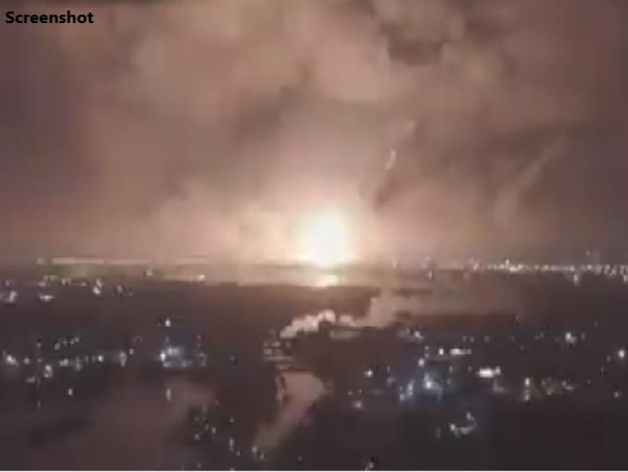 ایران میں ملٹری بیس کے قریب زور دار دھماکہ