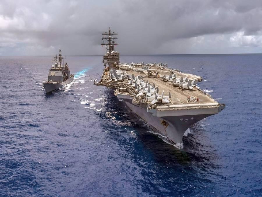 امریکہ کے2 طیارہ بردارجنگی بحری بیڑے چین کی جانب کیوں بڑھ رہے ہیں؟