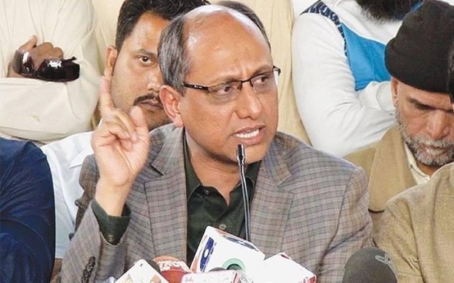پی ٹی آئی کے سی ویودھرنے میں امن کمیٹی کے لوگ آتے رہے،سعید غنی نے علی زیدی کو چولوں کاسردارقراردیدیا