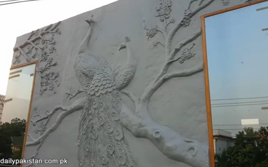 شہری نے گھر کی دیوار پر خوبصورت مور بنوالیا، جانیے آپ بھی کس طرح اپنے گھر کی دیواروں کو انتہائی دلکش بنا سکتے ہیں