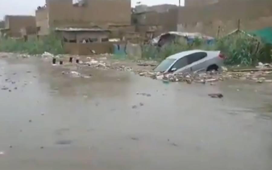 چند گھنٹے کی بارش نے کراچی کو