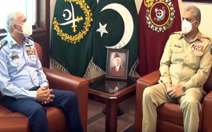 آرمی چیف جنرل قمر جاوید باجوہ سے ایئر چیف مارشل مجاہد انور خان کی ملاقات