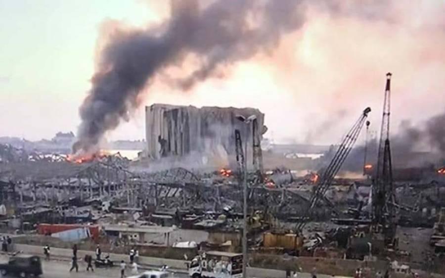 بیروت میں قیامت خیز دھماکہ، 100 افراد جاں بحق ،چار ہزار سے زائد زخمی ، متعددلا پتہ