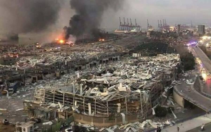 بیروت دھماکے: وزیراعظم نے دوست ممالک سے مدد کی اپیل کردی