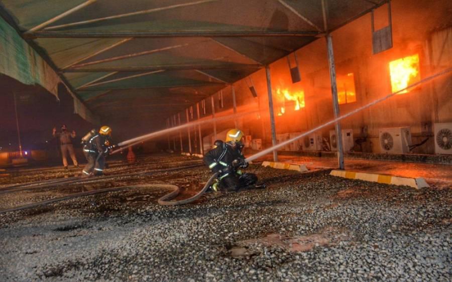 بیروت دھماکہ، نجف اور عجمان میں آتشزدگی کے بعد مکہ اور مدینہ کو ملانے والے ریلوے سٹیشن کے قریب بھی آگ لگ گئی