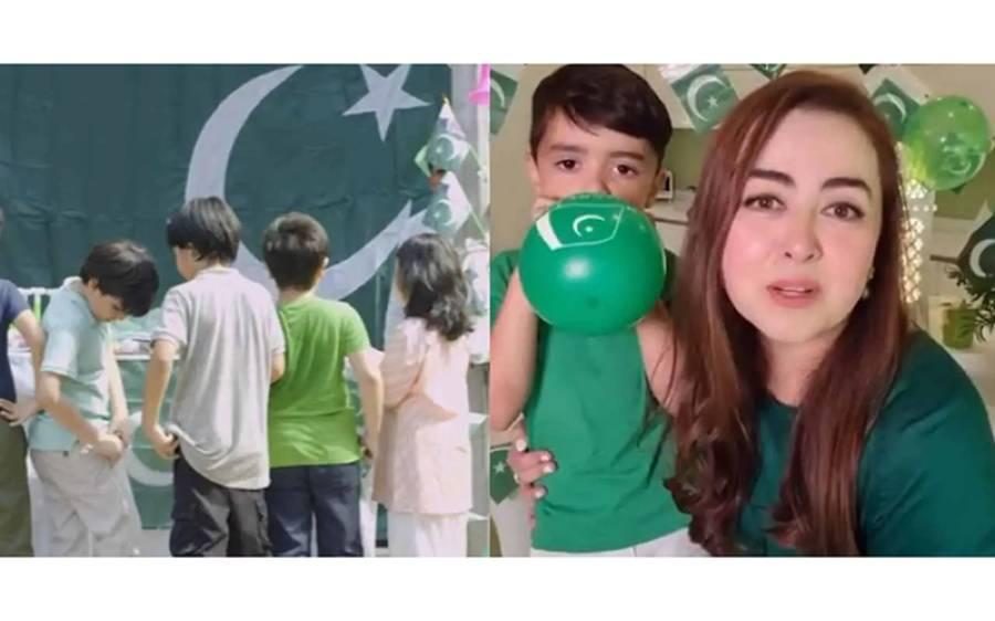 کورونا وائرس کی وجہ سے سوشل میڈیا پر مقبول ہونے والی پاکستانی ڈیزائنر ماریہ بی یوم آزادی پر پھر سامنے آگئیں