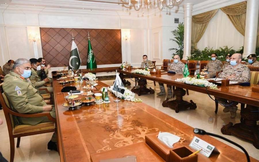 آرمی چیف کی سعودی لیفٹیننٹ جنرل فہد بن ترکی سے ملاقات ،دفاعی تعاون بڑھانے پر غور