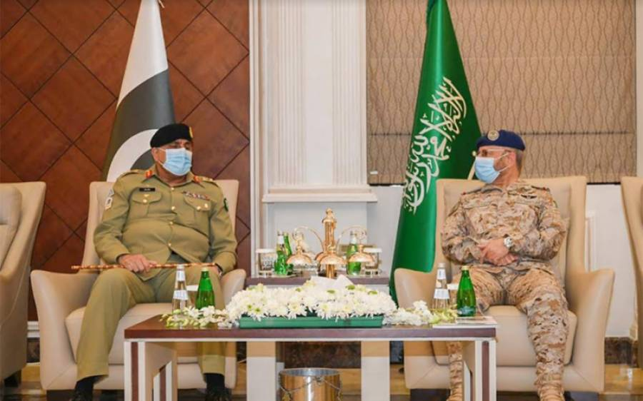 آرمی چیف قمر جاوید باجوہ کی سعودی چیف آف سٹاف جنرل فیاض بن حامد سے ملاقات ،دونوں ممالک کے درمیان عسکری تعاون کو بڑھانے پر اتفاق کیا گیا