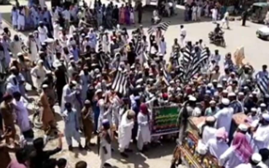 جمعیت علمائے اسلام ف حکومت کے خلاف میدان میں آگئی، عمرکوٹ میں احتجاجی ریلی