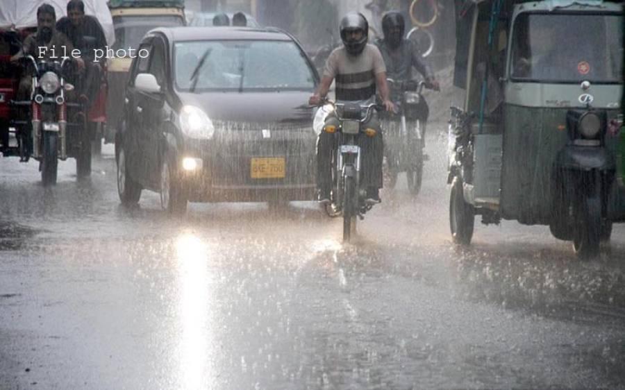 کراچی میں آج سے پیر تک مزید بارشوں کا امکان