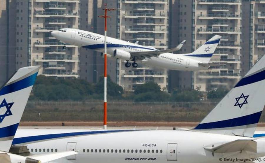اسرائیل کی پہلی پرواز یو اے ای پہنچ گئی