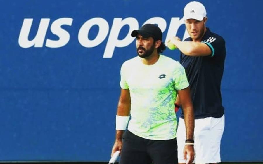 یو ایس اوپن ٹینس،اعصام الحق، برطانوی پارٹنر کو پہلے میچ میں ہی شکست کا سامنا