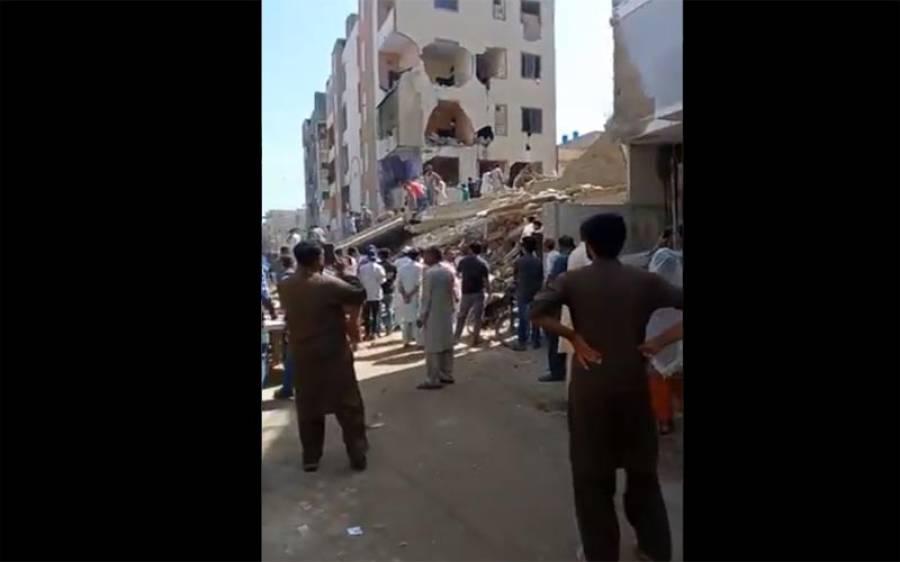 کراچی میں ایک اوررہائشی عمارت گر گئی ،ملبے سے ایک لاش نکال لی گئی