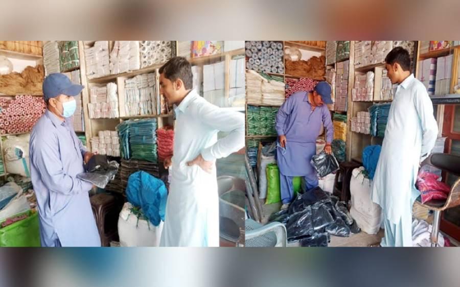 عمرکوٹ شہر اور اس کے گردونواح میں پلاسٹک بیگ سپلائی و فروخت کرنے والے ہول سیلرز و ریٹیلرز کی دکانوں پر چھاپے