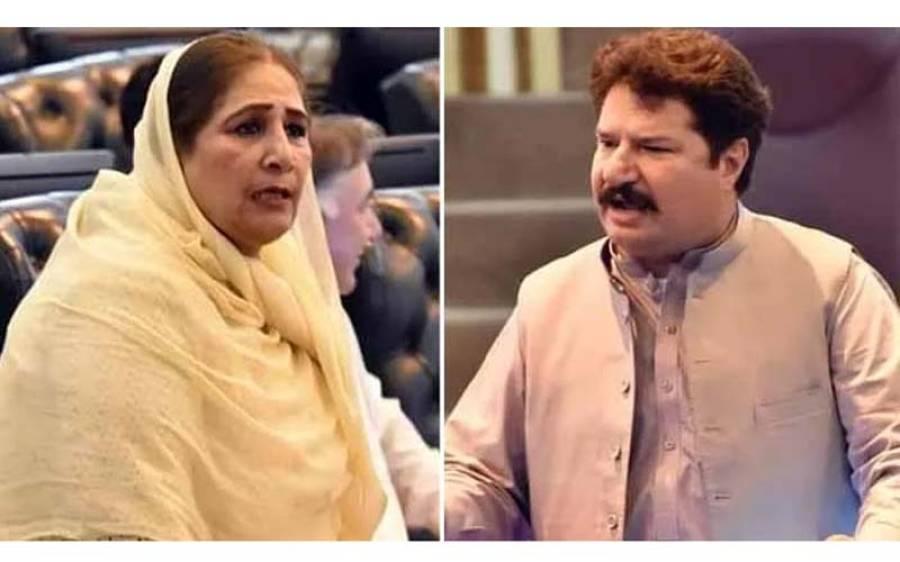 کے پی کے اسمبلی اجلاس کے دوران پی ٹی آئی کے لیاقت خان اور پی پی کی خاتون رہنما نگہت اورکزئی کے درمیان ' لڑائی ' ہو گئی